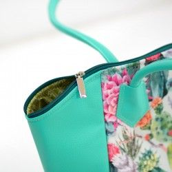Handbag with a zipper closure and a lining - sewing pattern and step by step tutorial
