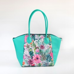 Tote bag with a zip closure. Large bag with rolled handles - sewing pattern and tutorial.