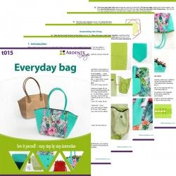 Shopper bag with a zipper closure - step by step tutorial and sewing pattern