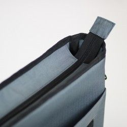 How to sew a recessed zipper. Laptop bag sewing pattern and step by step tutorial.