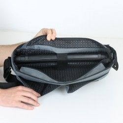 Padded laptop bag for a man. How to sew a bag with a pocket for a laptop.