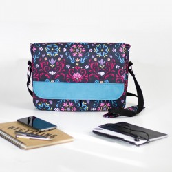 Medium size bag with a laptop pocket - sewing pattern and tutorial.