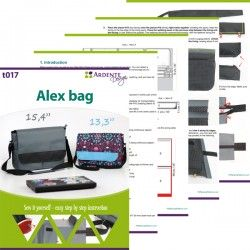 Laptop bag sewing pattern and tutorial. Sewing laptop bag step by step.