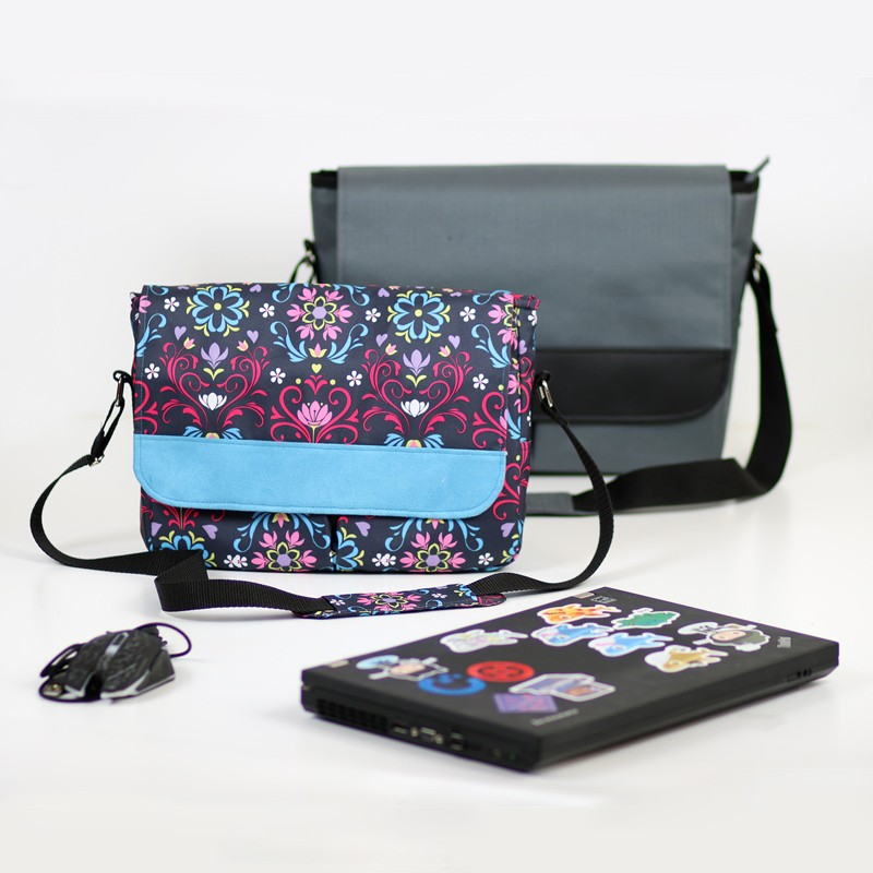 Medium laptop bag sewing pattern. How to sew a laptop bag for a woman.