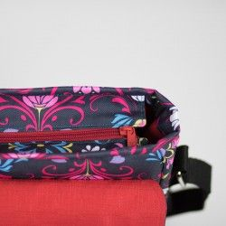 How to sew a bag with a lining and a zipper closure. How to add a recessed zipper to a bag.