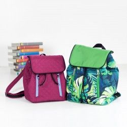 How to sew a backpack with a flap and zipper pockets. Backpack sewing pattern and tutorial