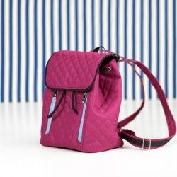 How to sew a backpack with zipper pockets and adjustable straps. Backpack sewing pattern and tutorial.