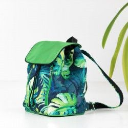 How to sew a drawstring backpack - sewing pattern and tutorial.