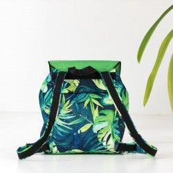 How to sew a backpack with adjustable shoulder straps. Medium backpack sewing pattern and tutorial.