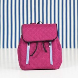 Backpack sewing pattern and step by step tutorial. How to sew a small backpack for a woman.