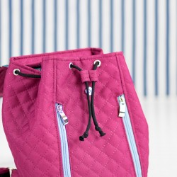 How to sew a backpack with a drawstring closure. How to sew a cord stop, tutorial.
