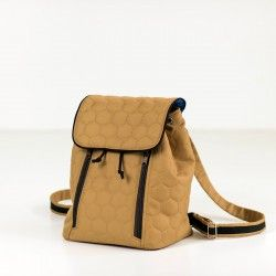 Small backpack sewing pattern. How to sew a backpack with zippered pocket, tutorial.