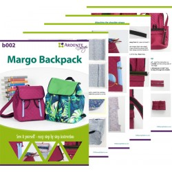 Small backpack sewing pattern and tutorial. How to sew a backpack with a flap.