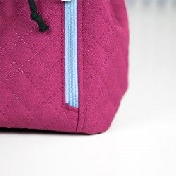 How to sew a zippered pocket with slanted ends, tutorial.