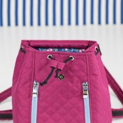 How to sew a drawstring closure backpack. Summer backpack sewing pattern and tutorial.