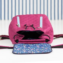 How to sew a backpack with a flap and a drawstring closure. Backpack sewing pattern and tutorial