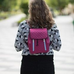 How to sew a small backpack for a woman. Backpack sewing pattern and tutorial.