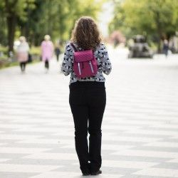 Backpack sewing pattern and tutorial. How to sew a small backpack for a woman.